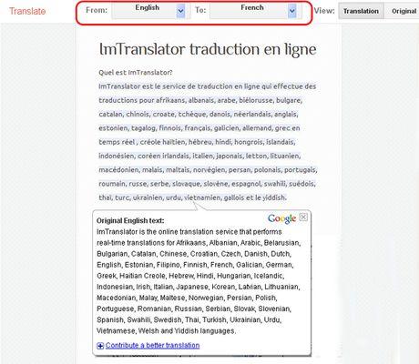 Webpage Translation делает перевод веб-страниц для более 100 языков с помощью сервиса Google Translate.