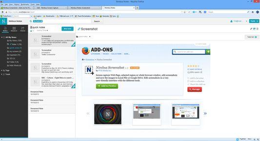 Access saved screenshots with Nimbus Account