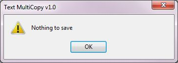 Nothing to save