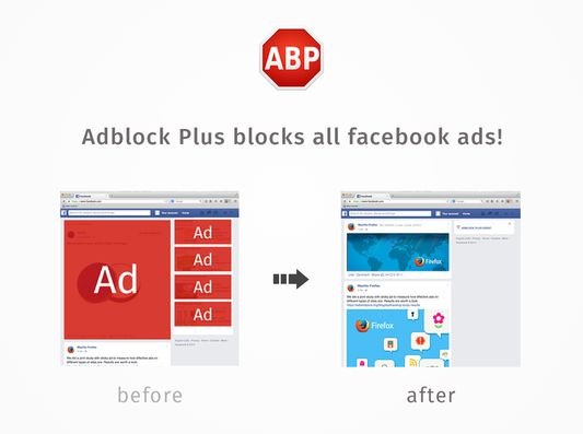 Clean up your Facebook experience with Adblock Plus.