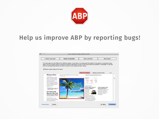 Please help us by reporting bugs.