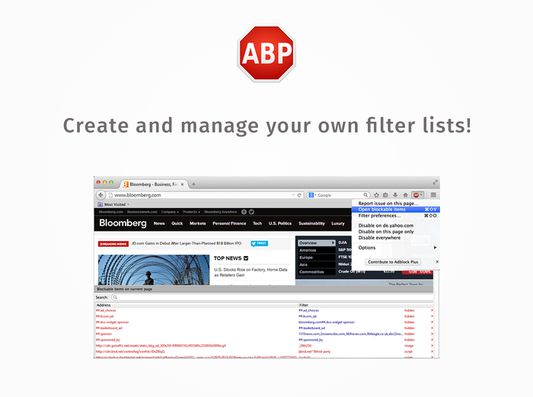 You can even create your own blocking lists to customize the web to your exact needs.
