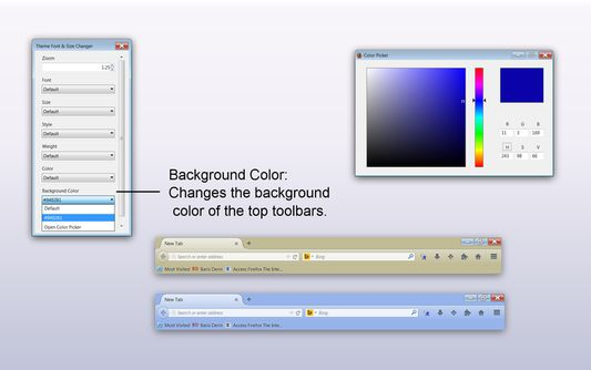 Background Color (for top toolbars)