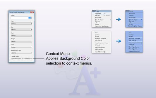 Context Menu - Applies Background Color selection to context menus