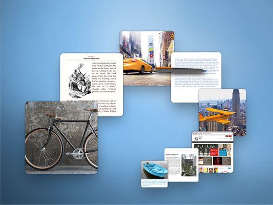 Ajoutez des pages web, des fichiers, des photos, des notes et bien plus