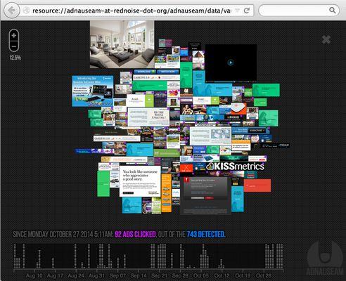 AdNauseam's advault interface...