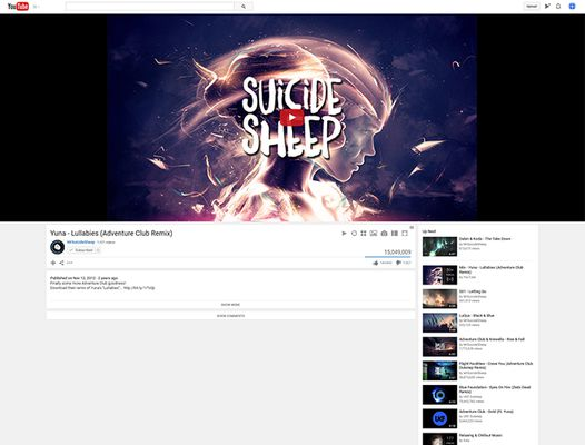 Video page with multiple changes: Autoplay off, Show relative post date, Show upload video count, Hide comment section, Labelless video description buttons, Fit to page in theater mode, Autoplay up next off