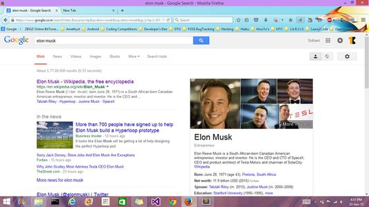 Google search page - normal mode.