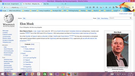 Wikipedia page - normal mode.