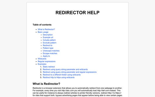 The help, to assist you with creating redirects.