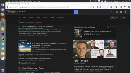 Google search page with Owl mode enabled