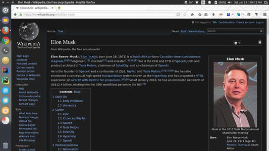 Wikipedia page with Owl mode enabled