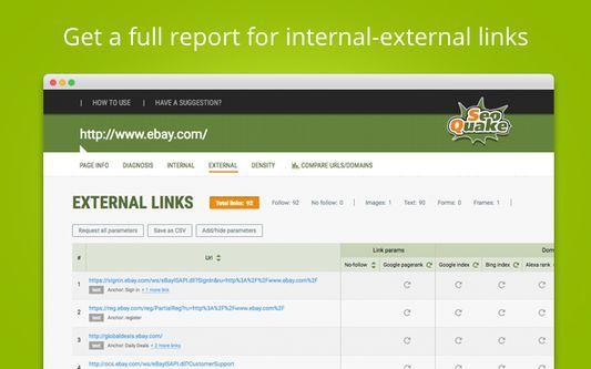 Get a full report for internal/external links