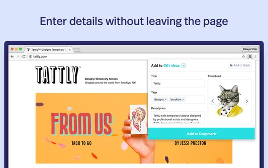 Enter details without leaving the page