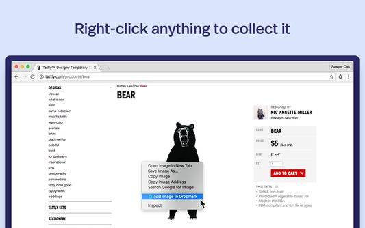 Right-click anything to collect it