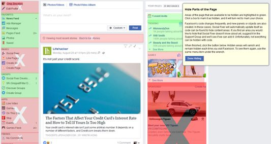 Hide parts of the page you don't want to see by simply pointing and clicking.