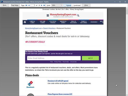 Print Edit WE - Firefox's print preview window