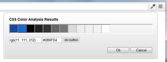 ColorZilla Page Color Analyzer