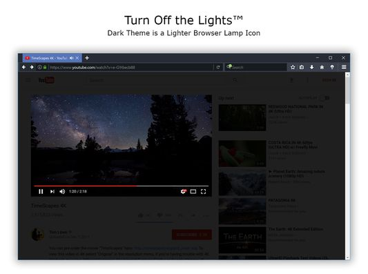 Turn Off the Lights - White Browser lamp Icon