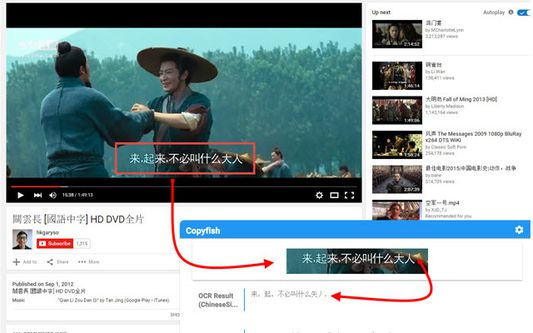 Capture and translate movie subtitles with Copyfish