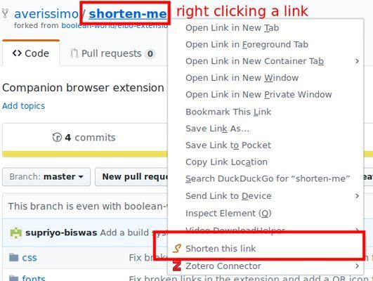 Context menu entry