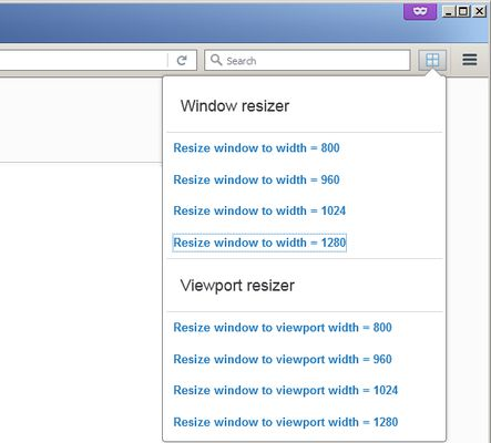 Resize window or viewport