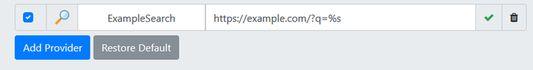 Adding a custom search engine is easy