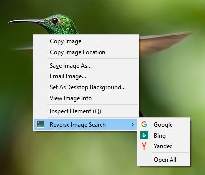 """If more than one search engine is selected, a new entry """"Open All"""" is shown (NOTE: Icons only work with Firefox >= 56)"""