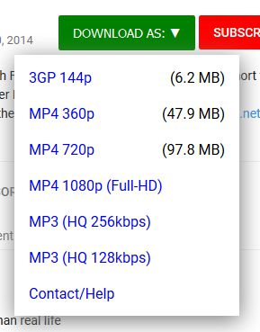Multiple Youtube download options, high-quality, Youtube to mp3 and mp4 options