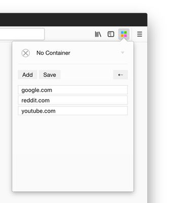 Special `No Container` option to break out of a container.