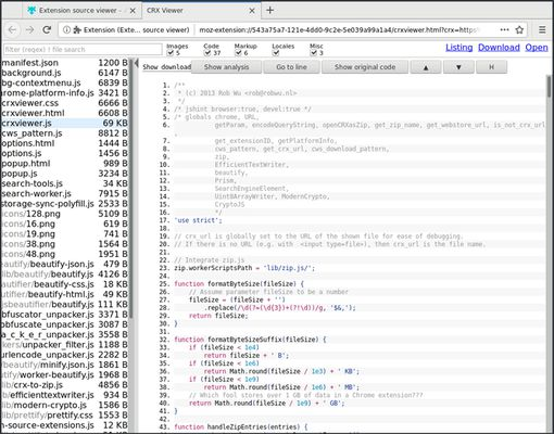 View source to view the extension's source code.