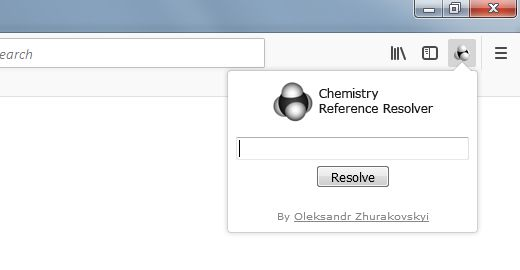 Quickly access chemistry articles from a toolbar popup.