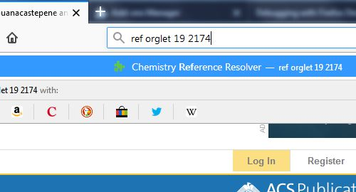 """Type """"ref"""" in the address bar, followed by a space and your reference."""
