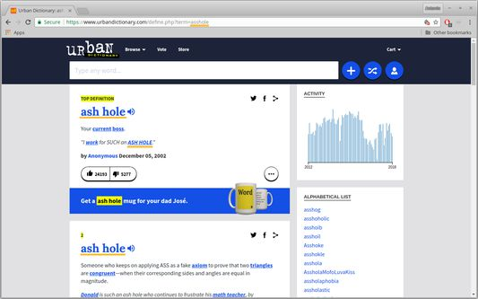 Urban Dictionary in The Good Net