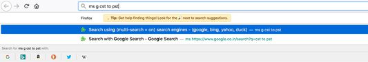 Search using custom search engine.