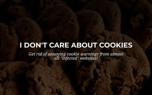 """""""I don't care about cookies"""" browser extension."""