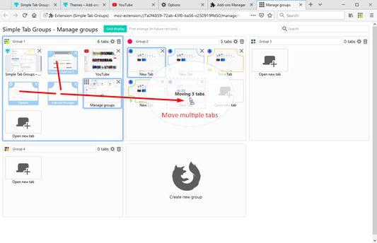 Drag&Drop multi selected tabs