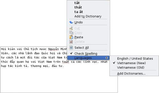 """Suggestions for """"taất"""" using the new-style diacritics dictionary (Firefox 3.0, KDE)"""