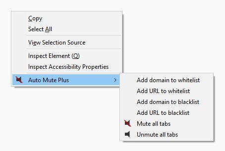 Right click context menu.