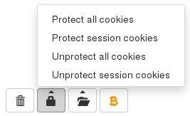 Gérer finement la protection des cookies par l'application. Protégez les cookies de session en 1 clic et évitez les déconnexions inattendues après un effacement.
