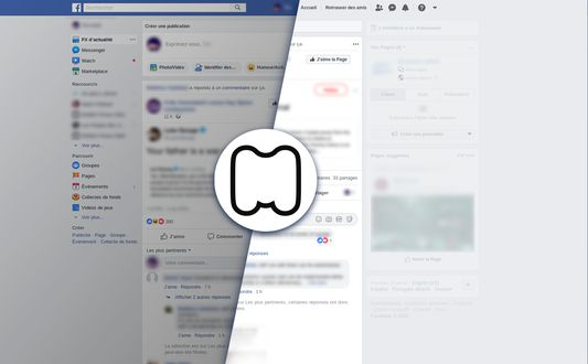 facebook, before and after the use of minimal.