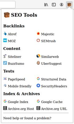 Preview of the dropdown with the services.
