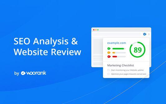 Análisis SEO y evaluación de sitios web de WooRank