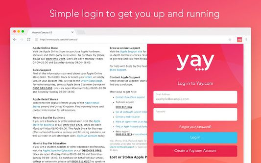 Simple login to get you up and running