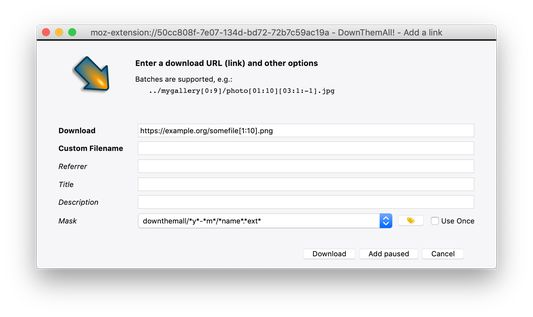 Of course, you can manually add downloads, too.