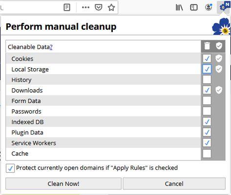 Manually run cleanup