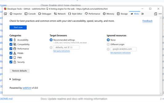 webhint's configuration