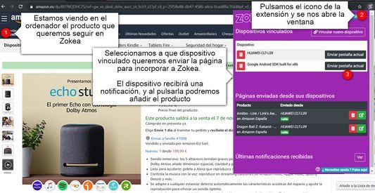 Envía productos a la app de Zokea de tu móvil directamente desde el ordenador gracias a esta extensión