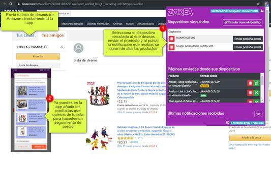 Envía no solo productos, también tu lista de deseos de Amazon con un clic