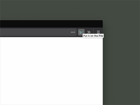 Bookmark pages by pressing the Pile button in your toolbar.